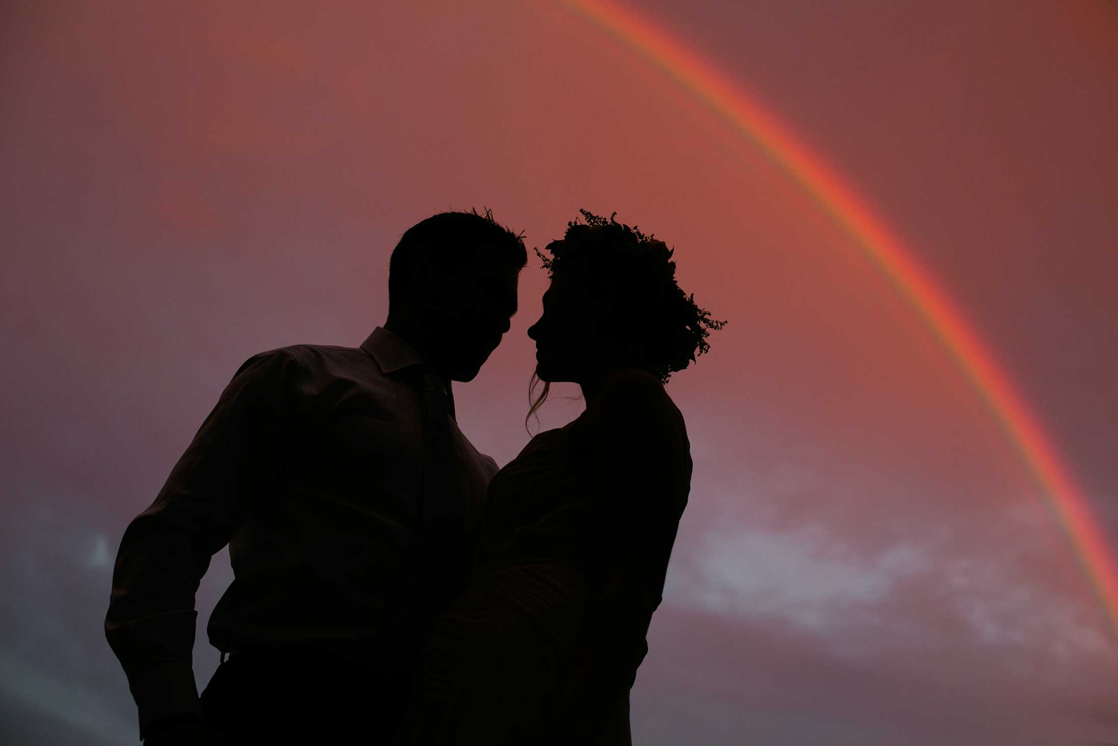 rainbow-bride-groom-red-sky-beautiful